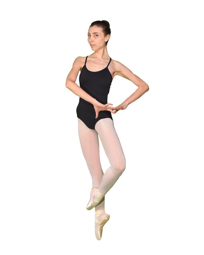 COSMOS Spaghettiträger-Ballett-/Tanztrikot mit überkreuztem Rücken