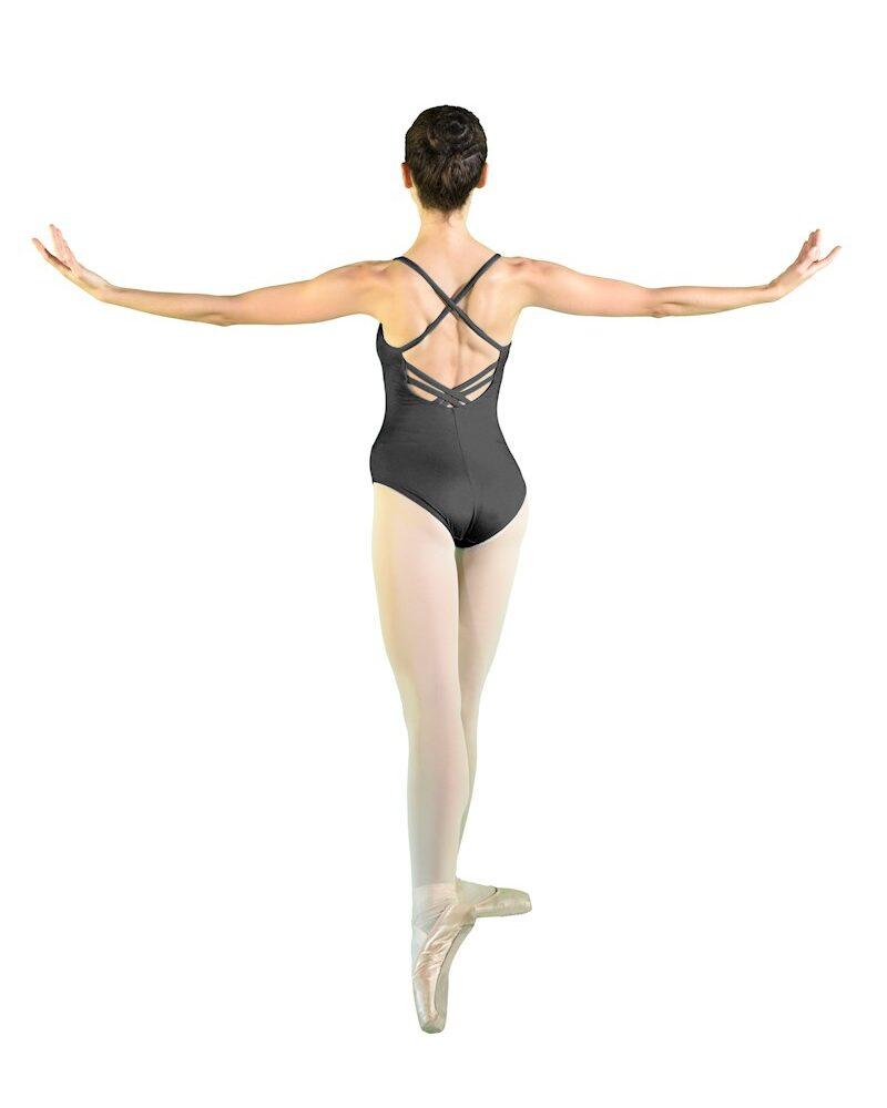 IRIS Spaghettiträger-Ballett-/Tanztrikot mit überkreuzten Trägern