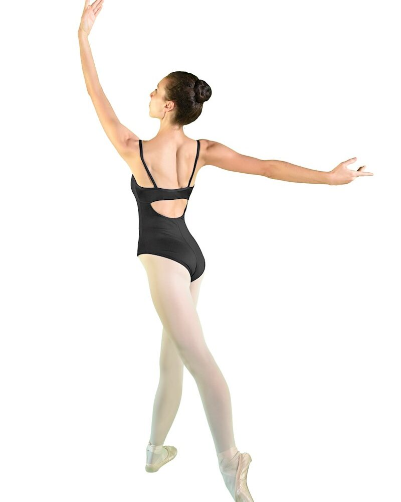 TITHONIA Spaghettiträger-Ballett-/Tanztrikot mit Cut Out-Rücken